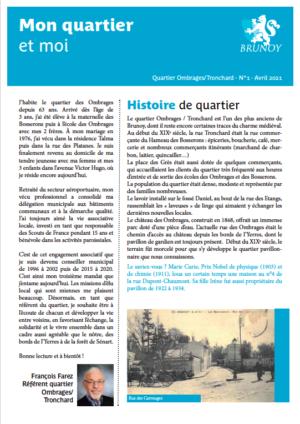 Gazette n° Ombrages / Tronchard